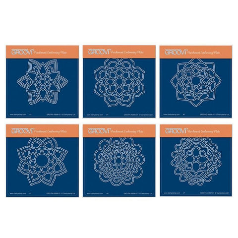 Mandalas Collection <br/>A6 Square Groovi Baby Plate Set