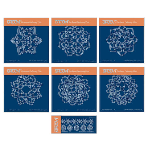 Mandalas Collection <br/>A6 Square Groovi Plate Set