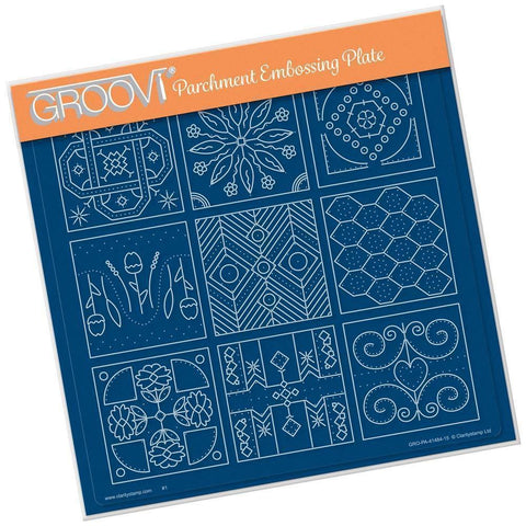 Embroidery Sampler A4 Square Groovi Plate