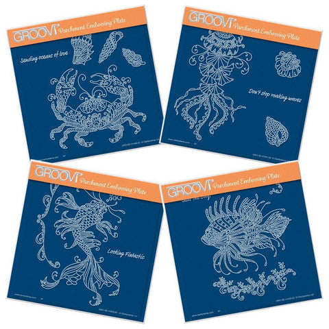 Cherry's Under the Sea Collection <br/>A5 Square Groovi Plate Set