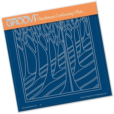 Country Hillside <br/>A5 Square Groovi Plate <br/>(Set GRO-CS-40660-03)