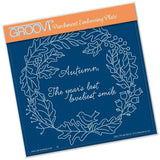 Autumn Wreath <br/>A5 Square Groovi Plate <br/>(Set GRO-TR-40818-03)