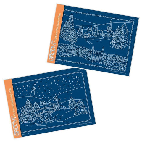 Jayne's New Winter Scenes Duet <br/>A5 Groovi Plate Set