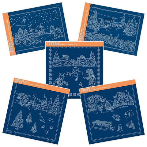 Jayne's Winter Scenes Complete Collection Groovi Plate Set