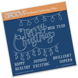 Merry Christmas <br/> A5 Square Groovi Plate <br/> (Set GRO-WO-40282-03)