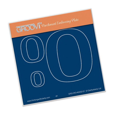 Open Number Zero <br/>Groovi Baby Plate A6 Square <br/>(Set GRO-WO-40496-XX)