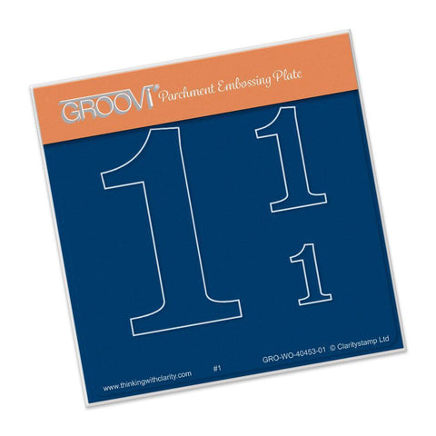 Open Number One A6 Square Groovi Baby Plate (Set GRO-WO-40496-XX)