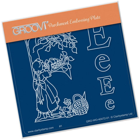 Nursery Rhyme 'E' <br/>A6 Square Groovi Baby Plate <br/>(Set GRO-WO-40653-01)