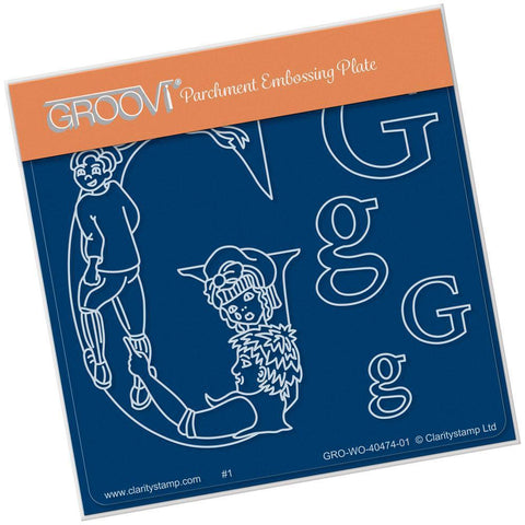 Nursery Rhyme 'G' <br/>A6 Square Groovi Baby Plate <br/>(Set GRO-WO-40653-01)