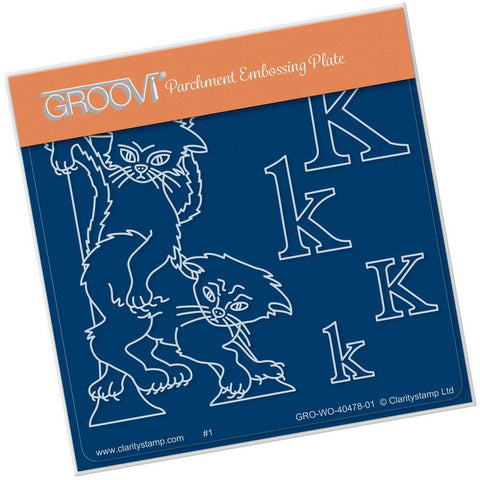 Nursery Rhyme 'K' <br/>A6 Square Groovi Baby Plate <br/>(Set GRO-WO-40653-01)