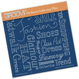 Fashion Phrases <br/>A5 Square Groovi Plate <br/>(Set GRO-40514-03)