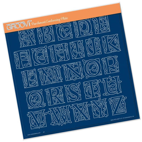 Large Celtic Alphabet <br/>A4 Square Groovi Plate