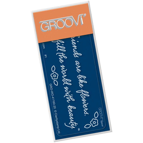 Tina's Friends Are Like Flowers <br/>Groovi Go! Spacer Plate