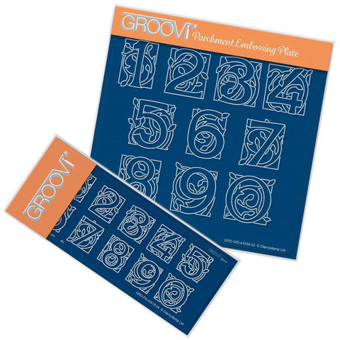 Celtic Numbers A5 Square Groovi Plate & Spacer Plate