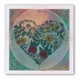 Garden Heart <br/>A5 Square Groovi Plate