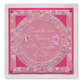 Friends Are Like Flowers & Floral Moon <br/>A5 Square Groovi Plate Set