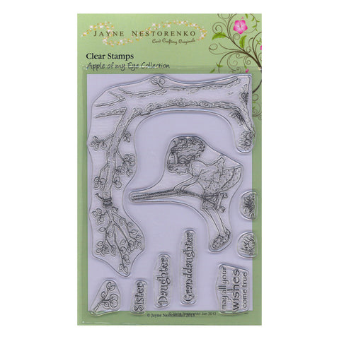 Girl on a Swing <br/>Unmounted Clear Stamp Set