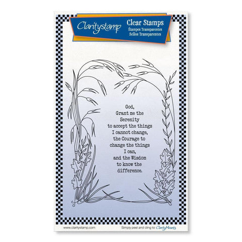Serenity Prayer <br/>Unmounted Clear Stamp Set