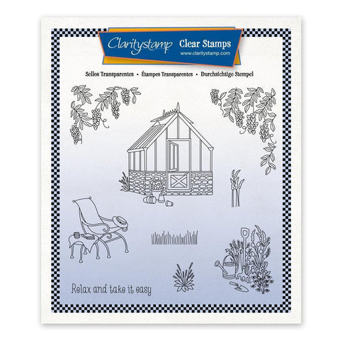 Linda's In the Garden - Greenhouse + Mask Unmounted Stamp Set