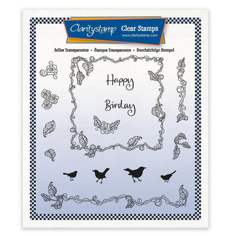 Happy Birday - A5 Square Unmounted Stamp Set