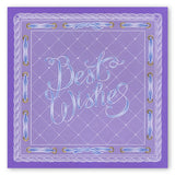 Best Wishes <br/> A5 Square Groovi Plate <br/> Set GRO-WO-40283-03)