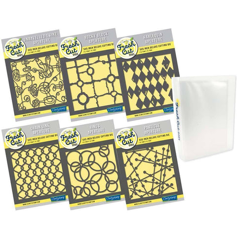 "Harlequin & Particles 5"" x 5"" Complete Die Collection & Fresh Cut Die Storage Folder"