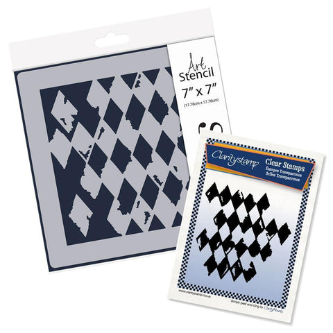 Harlequin Stamp Set & Stencil Bundle