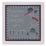 Hats 1 Groovi Border Plate (Set GRO-FA-40513-09)