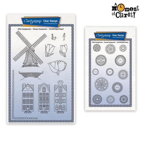 Barbara's SHAC Holland & Buttons Stamp & Mask Set Pair