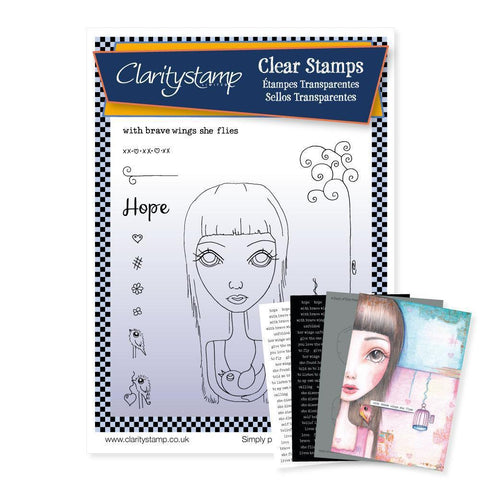 Dee's Friends - Hope <br/>Unmounted Clear Stamp Set <br/>+ MASK & 2x Phrase Sheets