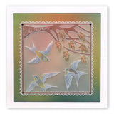 House Martins & Woodland Glade <br/>A5 Square Groovi Plate Set