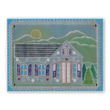 Tudor House Tem-plate & Borders Bundle