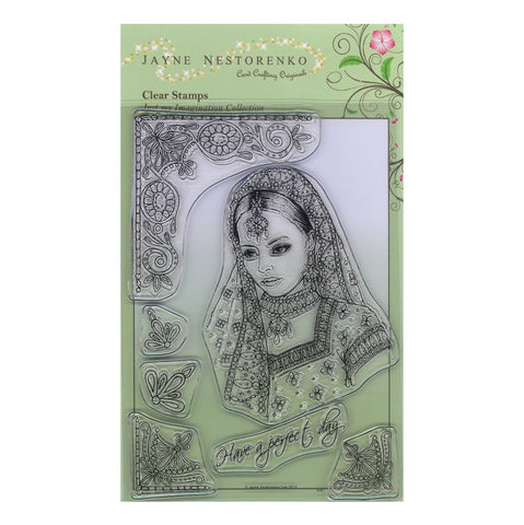 Indian Princess <br/>Unmounted Clear Stamp Set