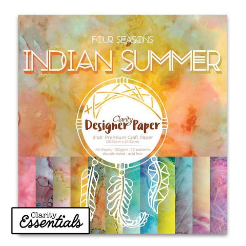 "Indian Summer <br/>Designer Paper Pack 8"" x 8"""