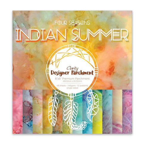 "Indian Summer <br/>Designer Parchment Pack 8"" x 8"""