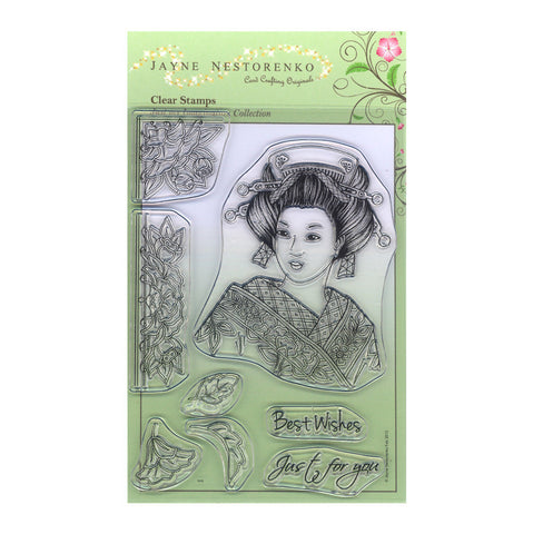 Japanese Geisha <br/>Unmounted Clear Stamp Set