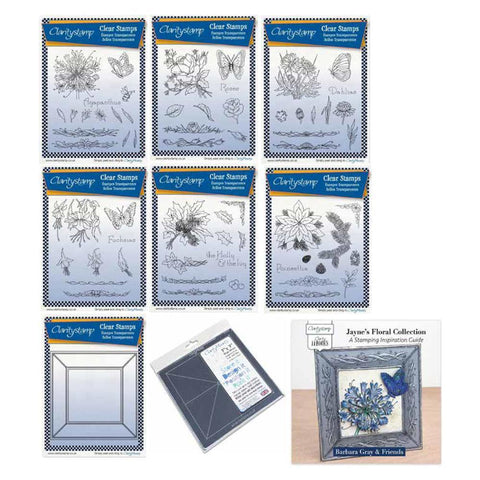 Jayne's Floral Bundle Unmounted Stamp Sets + 7 x 7 Mega Mount
