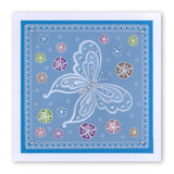 Jayne's Butterflies <br/>A5 Square Groovi Plate <br/>(Set GRO-FL-40328-03)