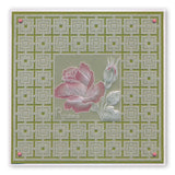 Jayne's Roses <br/> A5 Square Groovi Plate <br/> (Set GRO-40408-03)