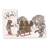 Jayne Nestorenko's Winter Scene - Sled <br/>Unmounted Clear Stamp Set