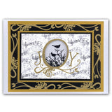 Joy Frame & Bird Song <br/>Unmounted Clear Stamp Set