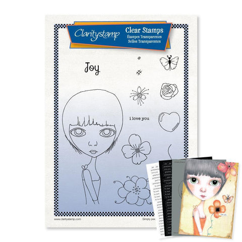 Large Dee's Friends - Joy Unmounted Clear Stamp Set + MASK & 2x Phrase Sheets