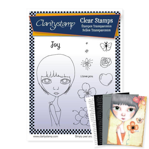 Dee's Friends - Joy Unmounted Clear Stamp Set + MASK & 2x Phrase Sheets