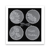 Linda's 123 Flowers - A Daisy, Lily of the Valley & Fuchsia A4 Square Groovi Plate