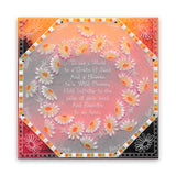 Linda's 123 Flowers - A <br/>Daisy, Lily of the Valley & Fuchsia <br/>A4 Square Groovi Plate <br/>(Set GRO-FL-40940-15)