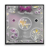 Linda's 123 Flowers - ABC Collection Daisy, Sweet Pea & Hydrangea A4 & A5 Square Groovi Plate Set