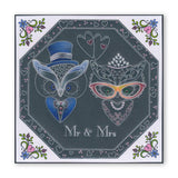 Linda's Wedding Owl Accessories A4 Square Groovi Tem-plate (Set GRO-TE-40910-15)