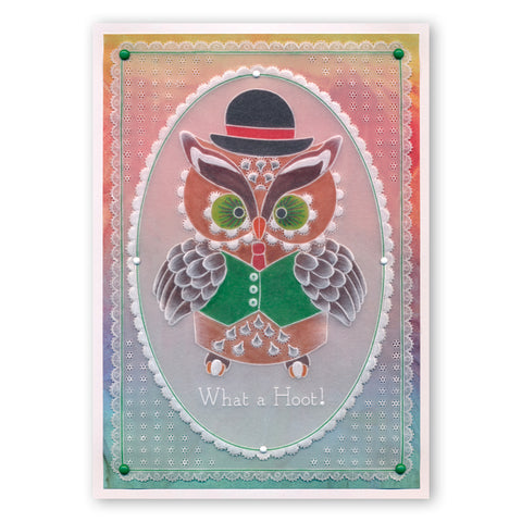 Linda S Owl Accessories A4 Square Groovi Tem Plate Set
