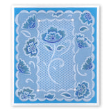 Lace Flowers & Netting A5 Square Groovi Plate Set