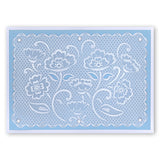 Lace Flowers & Netting <br/> A5 Square Groovi Plates (Set of 2)
